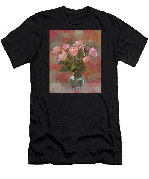 Rose Bouquet Men's T-Shirt (Athletic Fit)