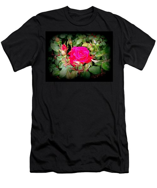 Rose Garden Centerpiece Men's T-Shirt (Athletic Fit)