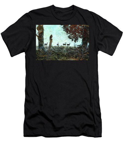 Rose Hill - Autumn Men's T-Shirt (Slim Fit) by Ed Hall