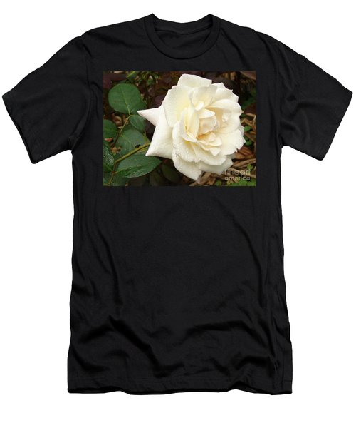 Rose In The Rain Men's T-Shirt (Athletic Fit)