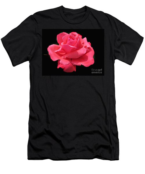 Men's T-Shirt (Slim Fit) featuring the photograph Rose Is A Rose by Judy Palkimas
