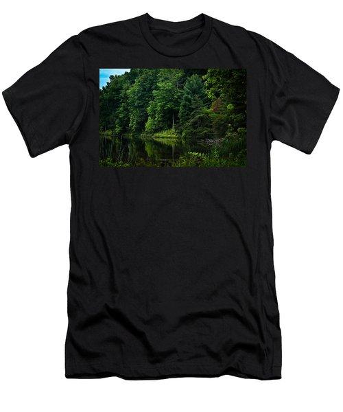 Rose Lake Beauty Men's T-Shirt (Athletic Fit)