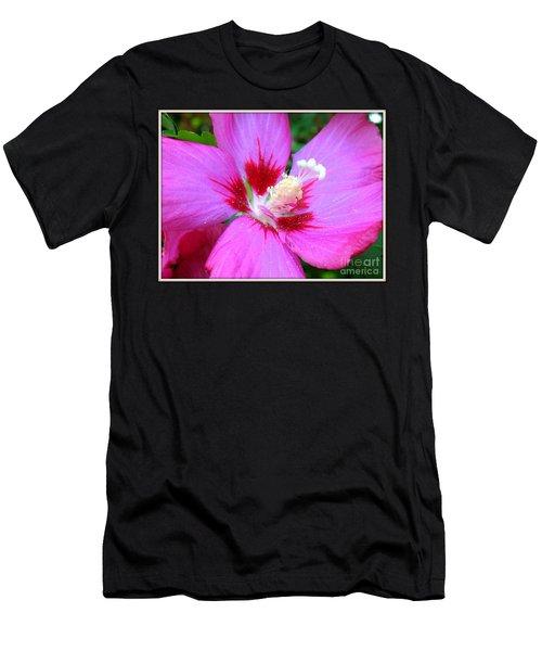 Rose Of Sharon Hibiscus Men's T-Shirt (Slim Fit) by Patti Whitten