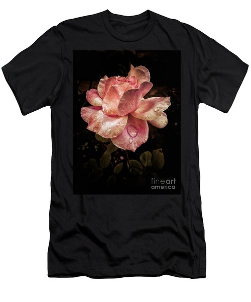 Rose Petals With Raindrops Men's T-Shirt (Athletic Fit)