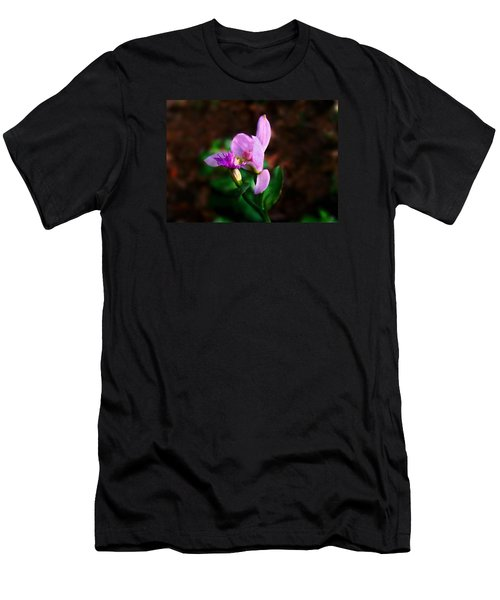 Rose Pogonia Orchid Men's T-Shirt (Slim Fit) by William Tanneberger