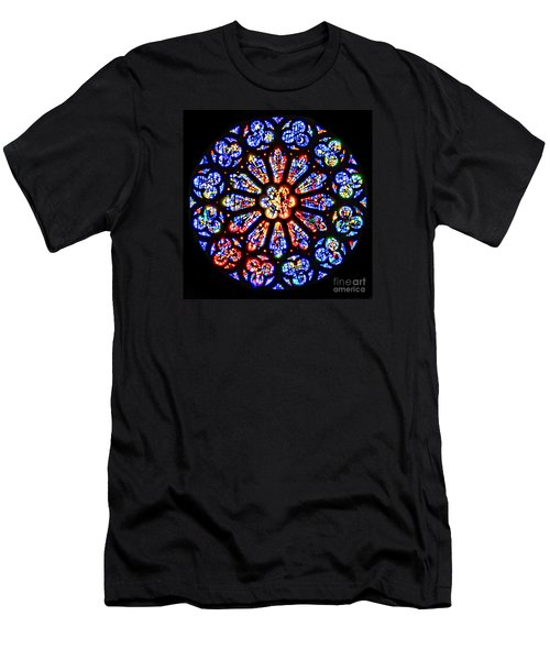 Rose Window Of Grace Cathedral By Diana Sainz Men's T-Shirt (Athletic Fit)