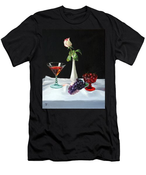 Rose Wine And Fruit Men's T-Shirt (Athletic Fit)