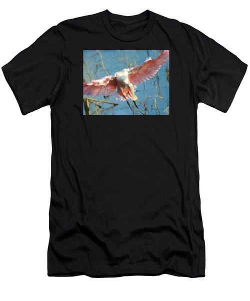 Da203 Roseate Spoonbill By Daniel Adams Men's T-Shirt (Athletic Fit)