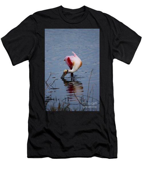 Roseate Spoonbill Twist Men's T-Shirt (Athletic Fit)