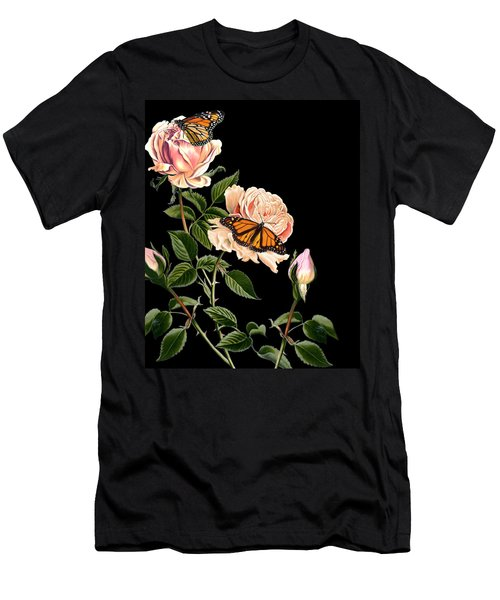 Roses And Butterflies Men's T-Shirt (Athletic Fit)