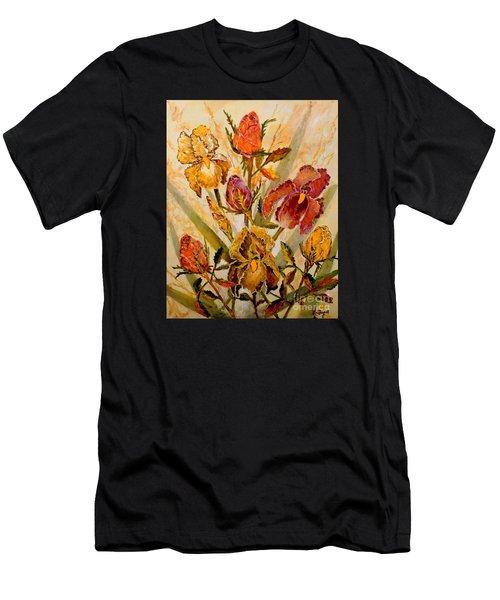 Roses And Irises Men's T-Shirt (Athletic Fit)