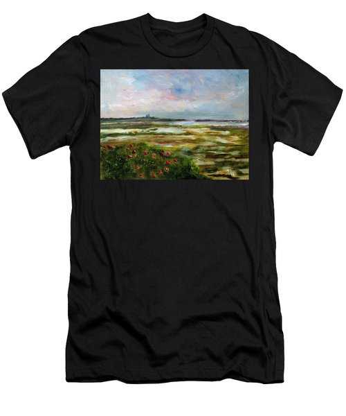 Roses Over The Marsh Men's T-Shirt (Athletic Fit)