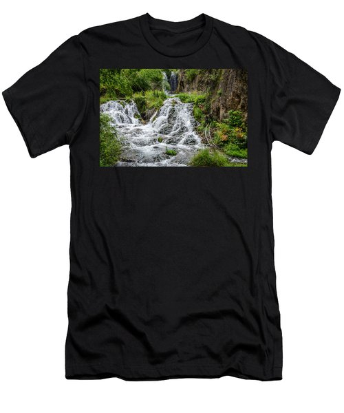 Roughlock Falls South Dakota Men's T-Shirt (Athletic Fit)