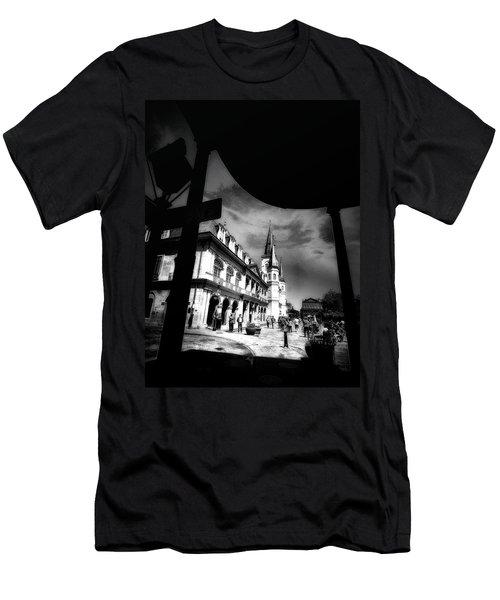 Round Corner Men's T-Shirt (Athletic Fit)