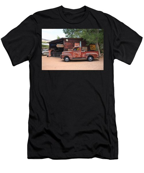 Route 66 Garage And Pickup Men's T-Shirt (Slim Fit)