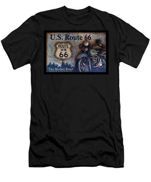 Route 66 Odell Il Gas Station Motorcycle Signage Men's T-Shirt (Athletic Fit)