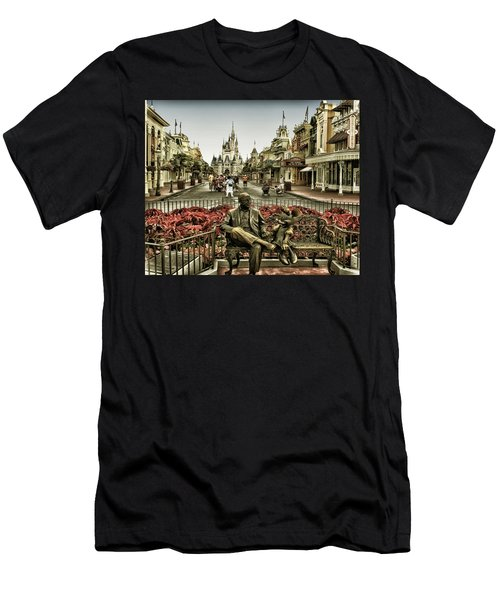 Roy And Minnie Mouse Antique Style Walt Disney World Men's T-Shirt (Athletic Fit)