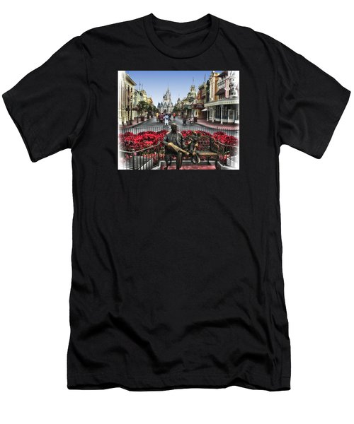 Roy And Minnie Mouse Walt Disney World Men's T-Shirt (Slim Fit) by Thomas Woolworth