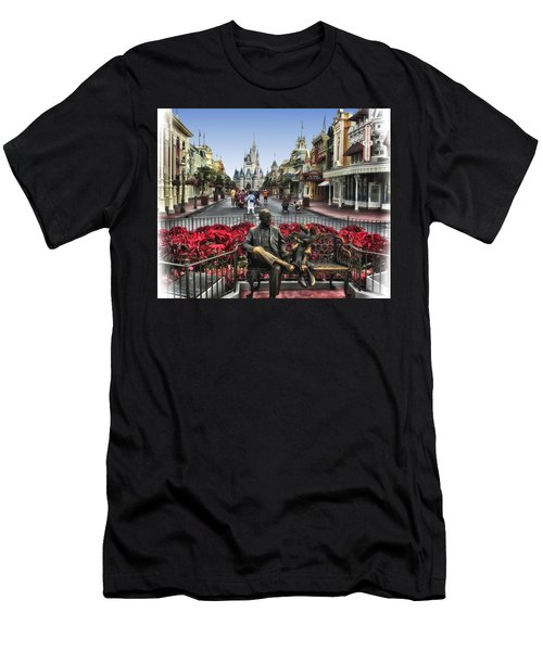 Roy And Minnie Mouse Walt Disney World Men's T-Shirt (Athletic Fit)