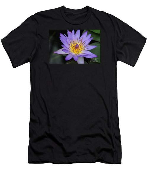 Royal Purple Water Lily #4 Men's T-Shirt (Athletic Fit)