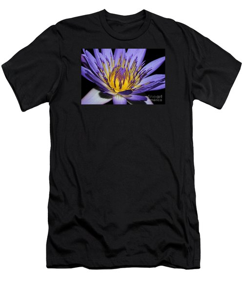 Royal Purple Water Lily #5 Men's T-Shirt (Slim Fit) by Judy Whitton