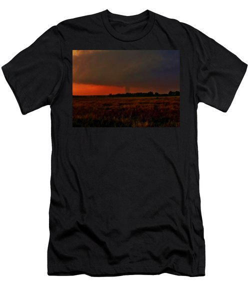Men's T-Shirt (Slim Fit) featuring the photograph Rozel Tornado On The Horizon by Ed Sweeney