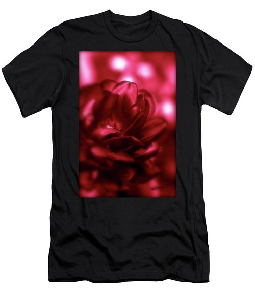 Ruby Red  Dahlia With Bokeh Men's T-Shirt (Athletic Fit)