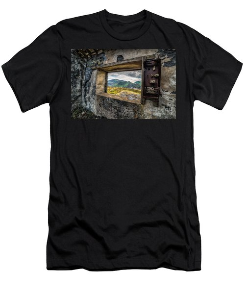 Ruin With A View  Men's T-Shirt (Slim Fit) by Adrian Evans