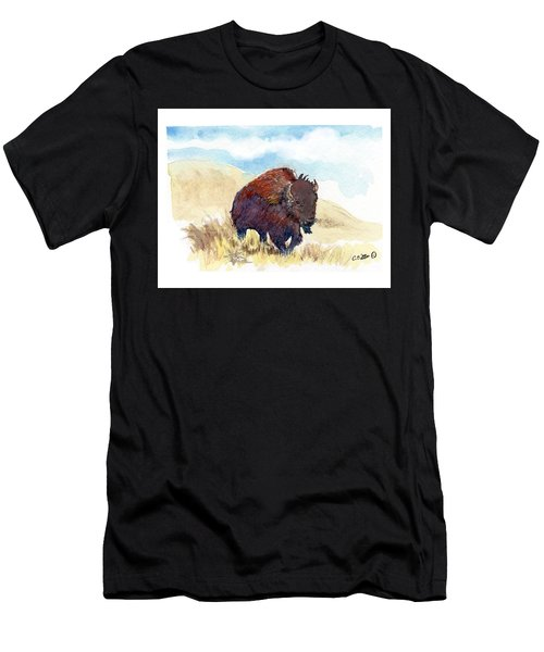 Running Buffalo Men's T-Shirt (Athletic Fit)