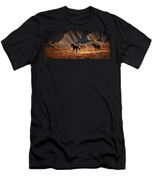 Men's T-Shirt (Slim Fit) featuring the photograph Running Free by Priscilla Burgers