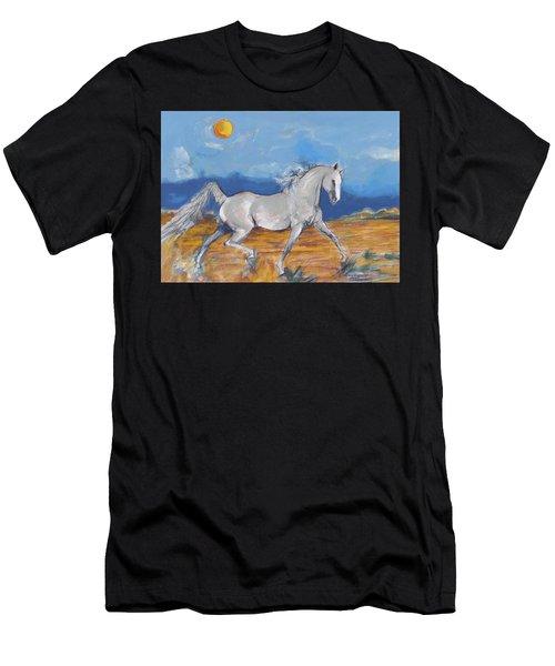 Running Horse M Men's T-Shirt (Athletic Fit)