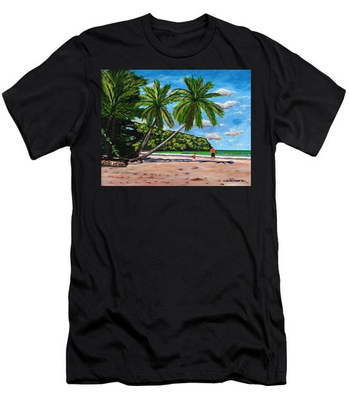 Men's T-Shirt (Slim Fit) featuring the painting Running by Laura Forde