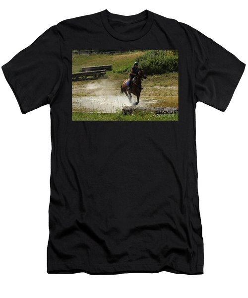 Running Thru Water  Men's T-Shirt (Athletic Fit)