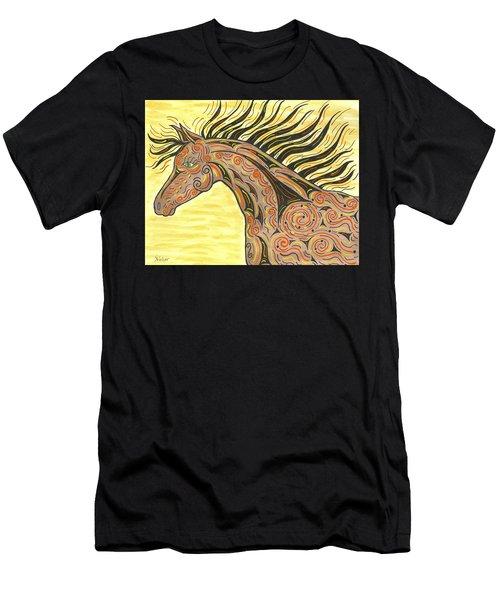 Running Wild Horse Men's T-Shirt (Slim Fit) by Susie WEBER