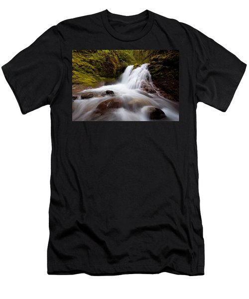Rushing Cascades Men's T-Shirt (Athletic Fit)