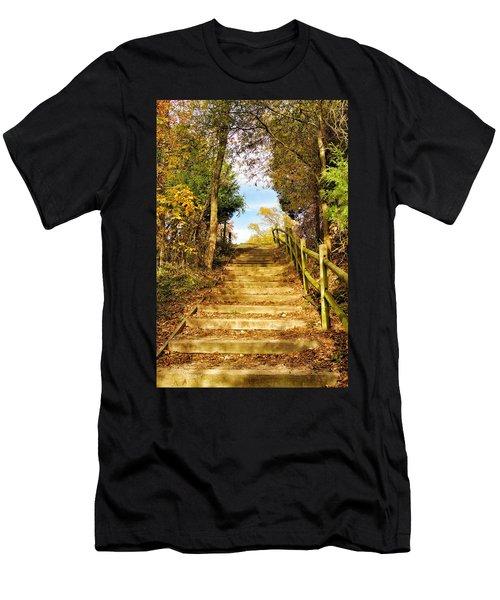 Rustic Stairway Men's T-Shirt (Athletic Fit)