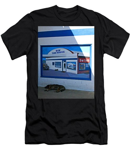 S And W Tire Service Mural Men's T-Shirt (Athletic Fit)