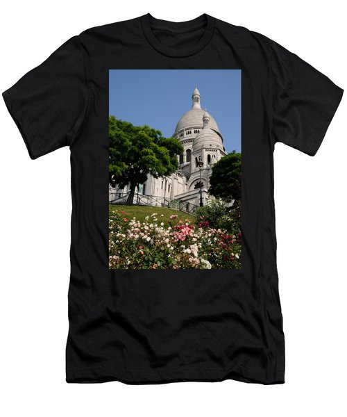 Sacre Coeur Flowers Men's T-Shirt (Athletic Fit)