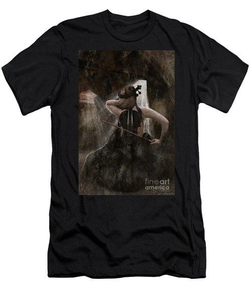 Sad Violin Men's T-Shirt (Athletic Fit)