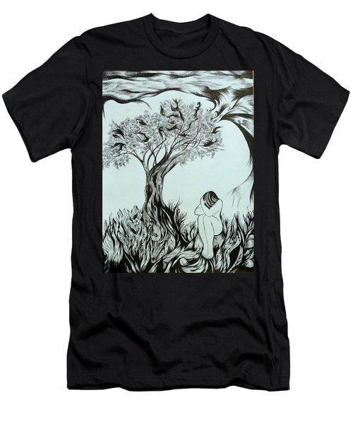 Sadness Men's T-Shirt (Slim Fit) by Anna  Duyunova