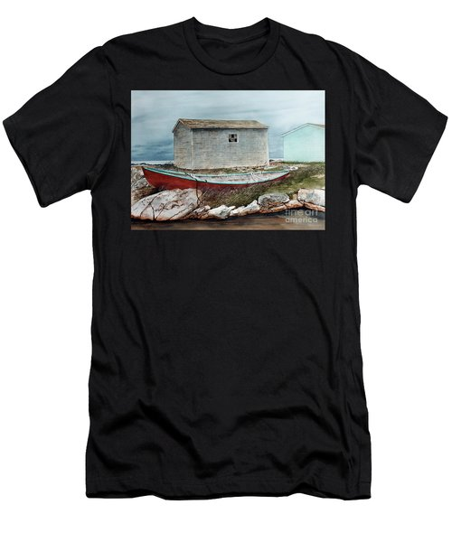 Safe From The Storm Men's T-Shirt (Athletic Fit)