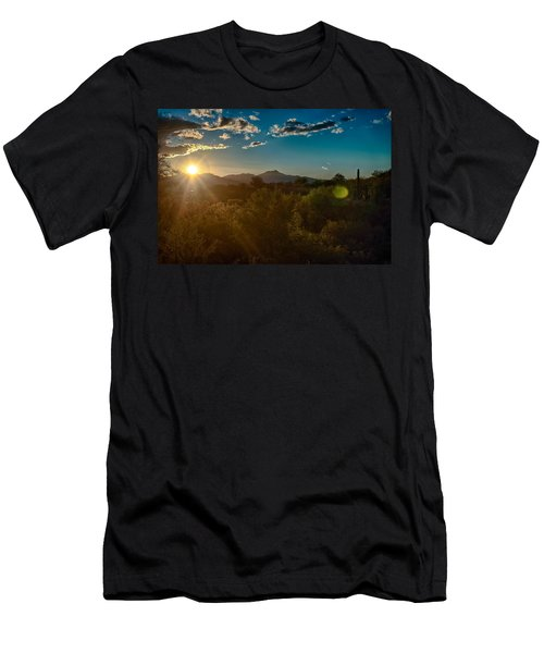 Men's T-Shirt (Slim Fit) featuring the photograph Saguaro National Park by Dan McManus