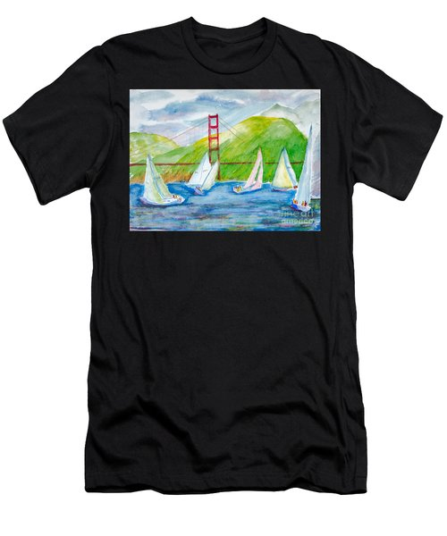 Sailboat Race At The Golden Gate Men's T-Shirt (Athletic Fit)