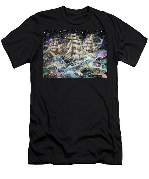 Sailing Among The Stars Men's T-Shirt (Athletic Fit)