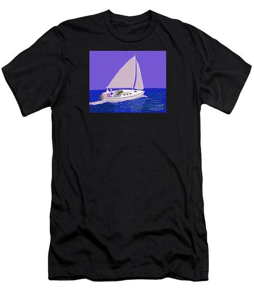 Sailing Blue Ocean Men's T-Shirt (Athletic Fit)