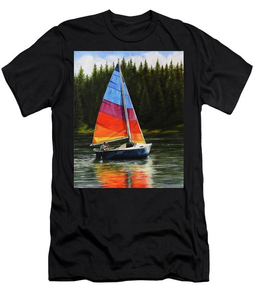 Sailing On Flathead Men's T-Shirt (Athletic Fit)