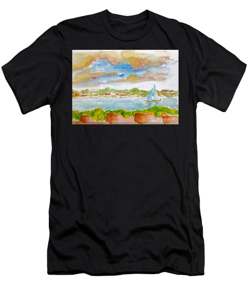 Sailing On The River Men's T-Shirt (Athletic Fit)