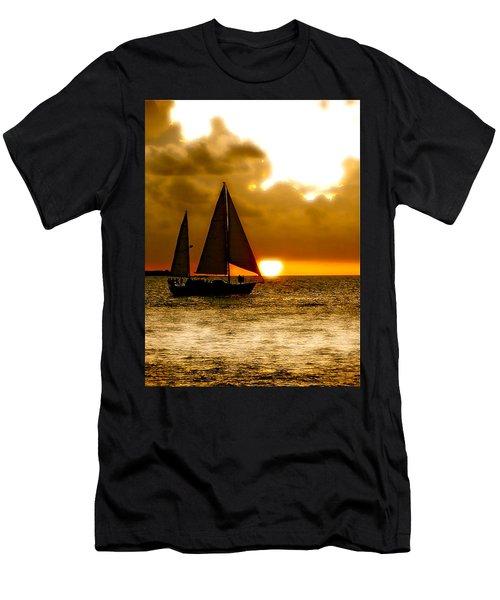 Sailing The Keys Men's T-Shirt (Athletic Fit)