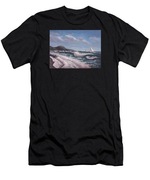 Sailing Toward Point Lobos Men's T-Shirt (Athletic Fit)