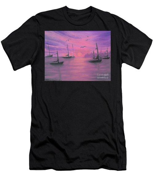 Sails At Dusk Men's T-Shirt (Athletic Fit)